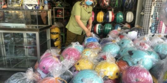 Hơn 2.700 mũ bảo hiểm giả nhãn hiệu Nón Sơn bị thu giữ